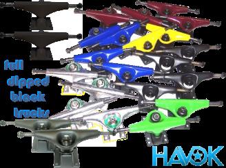 Havok 5.0 Skateboard Truck — Full Dipped Black