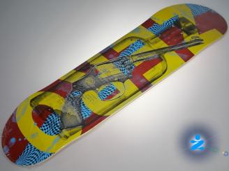Zero Gun Bottle Skateboard — 8.5 Team Deck