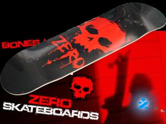 Zero Blood Skull Skateboard — 8.0 Deck