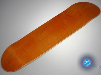 Blank PREMIUM deck — 7.9 Resin 7 ORANGE STAINED