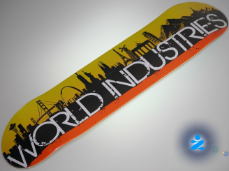 World Industries City Scape — 7.5 Team Deck