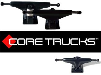 Core Skateboard Trucks black base mini 4 75