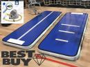 3m 10cm blauw carbon Air Track gym floor voetpomp