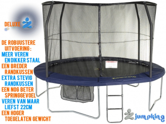 JumpKing JumpPOD DELUXE Trampoline Rond 370 x89cm