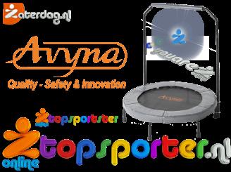 Grijs, Avyna fitness trampoline met beugel