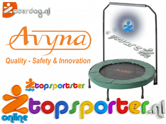 Groen, Avyna fitness trampoline met beugel