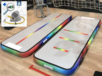 3m Rainbow Air Track Unicorn gym track voetpomp