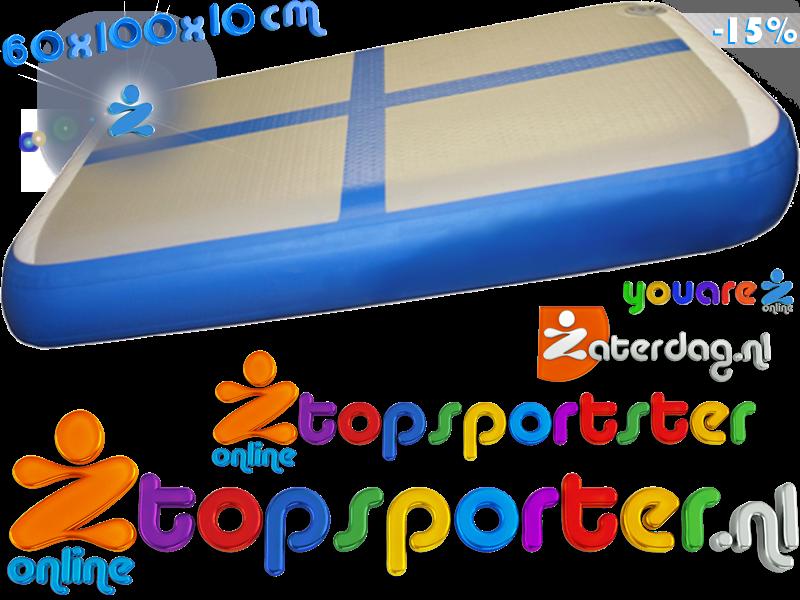 Blauw Airtrack Intro Pakket Airboard Set 0 1m 2 St Kopen